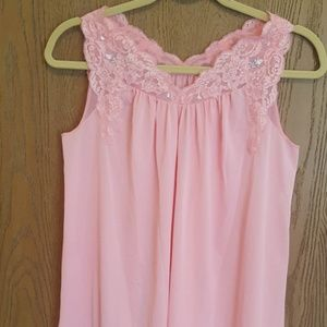 🌼Vintage Shadowline Pink Nightgown, Size Petite🌼